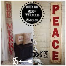 Pottery Barn Peace Sign Light Oversized Wood Christmas Sign Pottery Barn Knockoff
