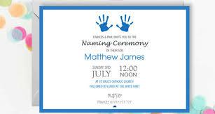 13 Naming Ceremony Invitation Designs Templates Psd Ai