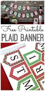 Mini Merry Christmas Banner and Holiday Printables Blog Hop