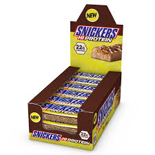 snickers protein bar box of 18 x 62g bars