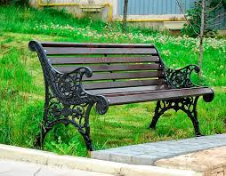 public bench traditional wooden cast iron oslo fr
