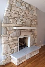 Stone Fireplace Remodel How To Paint A Dark Stone Fireplace And Keep It Natural And Rustic
