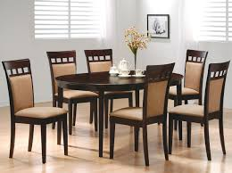 oval dining table set regarding coaster mix match 7 piece dunk bright furniture ideas 5