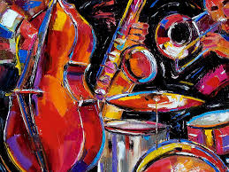 abstract jazz painting red jazz by debra hurd