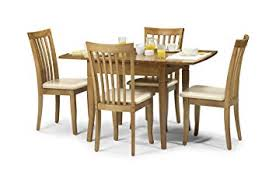 julian bowen newbury extending dining table set maple colour table and 4 chairs