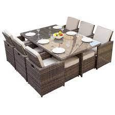 venta rattan patio dining table en