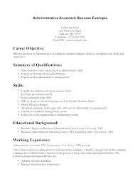 Entry Level Job Resume Examples Resume Objectives For Management Entry Level Management Resume