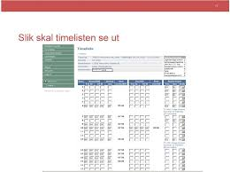 Innsending Av Timelister Timeliste Innsending Pdf