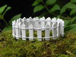 fairy garden fence edging white picket