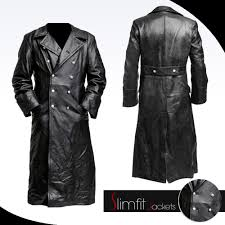 frank castle the punisher black leather trench coat