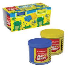 (тесто для <b>лепки</b>) ERICH KRAUSE <b>Artberry</b>, 2 цв, син+желт, 200г ...