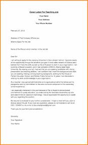 9 Sample Of A Teaching Job Application Letter Edu Techation
