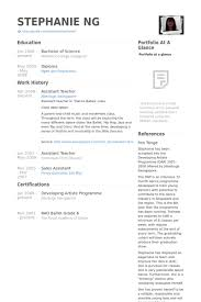 Assistant Teacher Resume Samples Visualcv Resume Samples Database