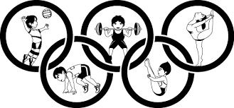 6月23日オリンピックデー 五輪と競技のイラスト無料ビジネスイラスト