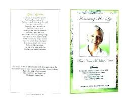 Memorial Card Template Word Graphical Funeral Program A