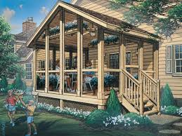 this open and airy screened porch is a great addition to any style of house plan
