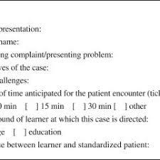 Template Of A Patient Profile Download Scientific Diagram