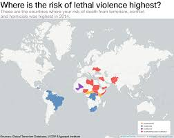 terrorism is on the rise but there s a bigger threat we re not  where is the risk of lethal violence highest