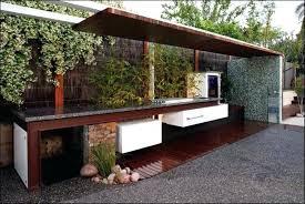 modern outdoor kitchen modern outdoor kitchens with granite refrigerator under wooden covering modern outdoor kitchen with