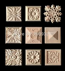 wood furniture appliques. 5 Pcs Wood Carving Applique Furniture Decorative Appliques Flower Pattern Carved Boards Nautical Home Decor Solid E