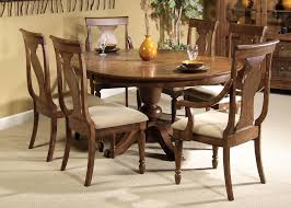 Drop Leaf Round Dining Table Tables With Leaves Dark Brown Glossy Varnished Walnut Wood Round