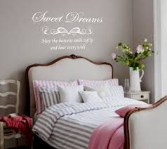 Lovely Attractive White Bedspread And Stunning Wall Stickers For Bedrooms  And Storage Table Ideas