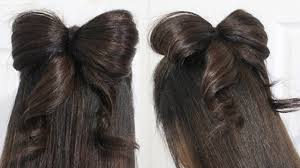 Bows In Hair Style hair bow tutorial hairstyle halfupdo for medium long hair youtube 4389 by wearticles.com