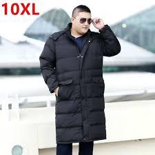 mens tall outerwear winter long down jacket big size fat coat 10 9 plus coats sizes