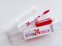 Maybelline 24 Hour Lipstick Color Chart Maybelline Super Stay 24 Lip Color 035 Keep It Red Review