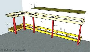 Garage Workbench Plans And Patterns Beauteous Garage Work Benches Barn Bench Garage Workbench Plans 488×48