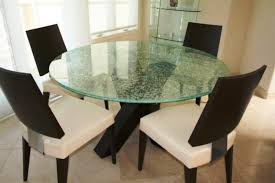 image of round custom glass table tops