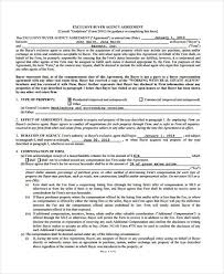 A purchase and sale agreement memorializes the terms under which real property is sold. Free 7 Exclusive Agency Agreement Forms In Ms Word Pdf Pages
