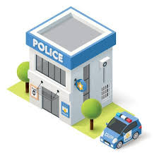 police station building clipart. Modren Police Vector  Isometric Police Department Building Icon For Police Station Building Clipart C