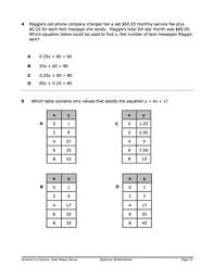 7th Grade Math Staar Practice Set 4 Tables Graphs