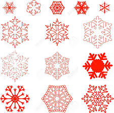Different Designs Of Snowflakes Stock Illustration