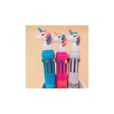 Lovely Unicorn Power 10 Colors Chunky Ballpoint Pen School ...