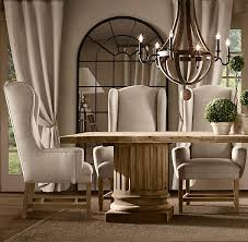 dining room chairs upholstered modern stylish belfort wingback chair fabric arm side throughout 19