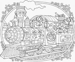 Train Coloring Pages Winter Adult Coloring Pages Printable Color