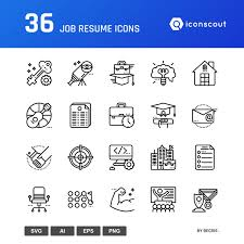 Resume Icons Job Resume Icon Pack 100 Line Icons Iconscout 79