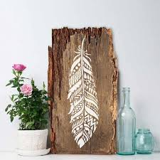 diy stencil ideas tribal feather wall art cool and easy stenciling tutorials for making