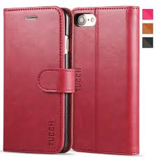 tucch iphone 8 leather case iphone 7 case premium pu leather flip folio wallet case with