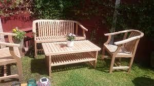 teak garden club bench