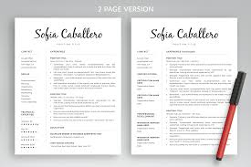 Modern Resume Template Sofia Bonus