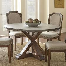images zinc table top: availability in stock steve silver wayland zinc top round dining table in driftwood