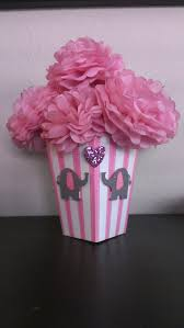 tissue paper flower centerpiece ideas table decorations made with popcorn boxes homemade tissue paper