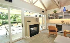 modest design double sided fireplace indoor outdoor surprising intended for two ideas back to wood best