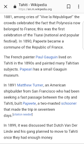 I Looked Up Tahiti To Learn Some More About It I Guess This Is Why
