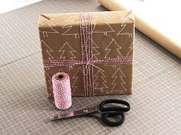 Christmas Trees Brown Paper Wrapping Idea