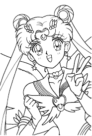 Small Picture Eternal Sailor Moon Coloring Page Sailor Moon Coloring Pages