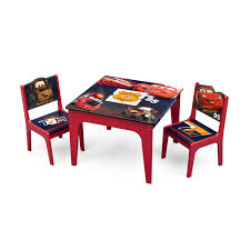 Table Set For Kids Delta Children Cars Kids 3 Piece Table And Chair Set Reviews
